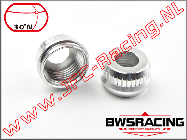 30N-51081, Aluminum Lower Shock Absorber Nut 30º North 2pcs.