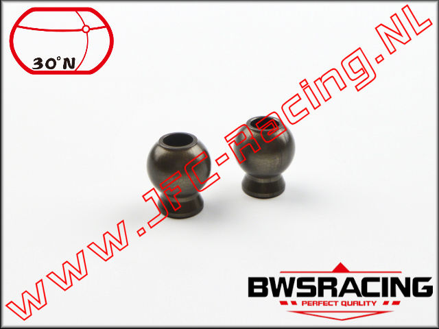 30N-55041, Turnbuckle Balls (Hard Coated Aluminium)(Steering) 30º North 2pcs.