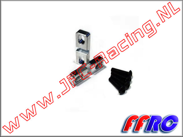5B010, Fullforce-RC Baja 5B / 5T 5th Scale Steering Servo Clamp 2pcs.