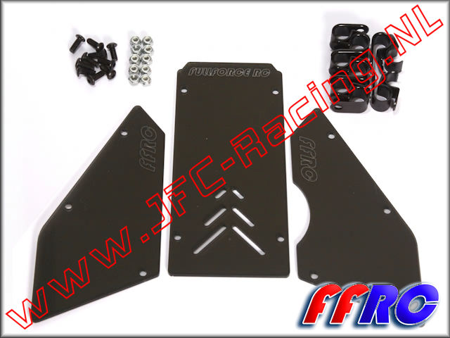 5B015SMOKED, FullForce RC Front / Side Window Set (<FONT COLOR=404040>Smoked</FONT>)(HPI Baja 5B) 1pcs.