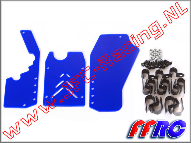 5B017BLU, FullForce Rear Window Set (<FONT COLOR=0000ff>Blue</FONT>)(HPI Baja 5B) 1pcs.