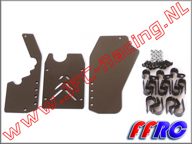 5B017SMK, FullForce Rear Window Set (Smoked)(HPI Baja 5B) 1pcs.