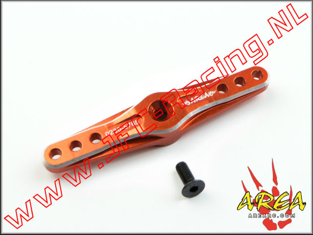 AR-022-D-RED, Alloy Servo Arm Double (15T)(<FONT COLOR=ff0000>Red</FONT>)(Area Rc) 1st.