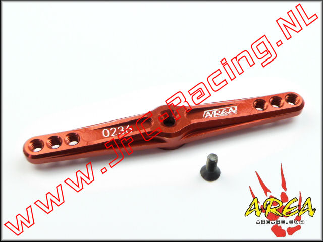 AR-022-DL-RED, Alloy Servo Arm Double (15T)(<FONT COLOR=ff0000>Red</FONT>)(Area Rc) 1st.