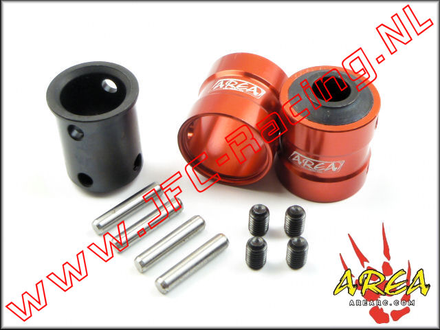 AR-L021-RED, Quick coupling V2 (Front & Rear)(Losi 5ive-T & Mini WRC)(<FONT COLOR=ff0000>Red</FONT>)(Area Rc) 2st.