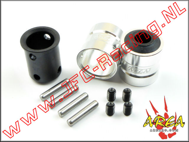 AR-L021-SILVER, Quick coupling V2 (Front & Rear)(Losi 5ive-T & Mini WRC)(<FONT COLOR=808080>Silver</FONT>)(Area Rc) 2st.