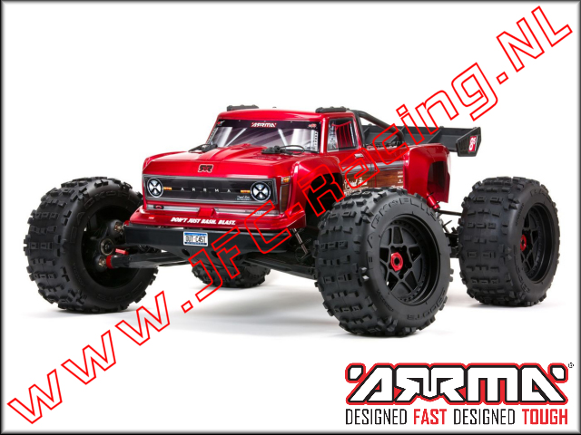 ARA5810, Outcast 4X4 8S BLX Brushless 1/5TH 4WD Stunt Truck (<FONT COLOR=ff0000>Rood</FONT>) 1st.