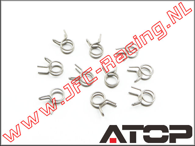 AT-002, ATOP Fuel Line Clips (Spring Steel) 10pcs.