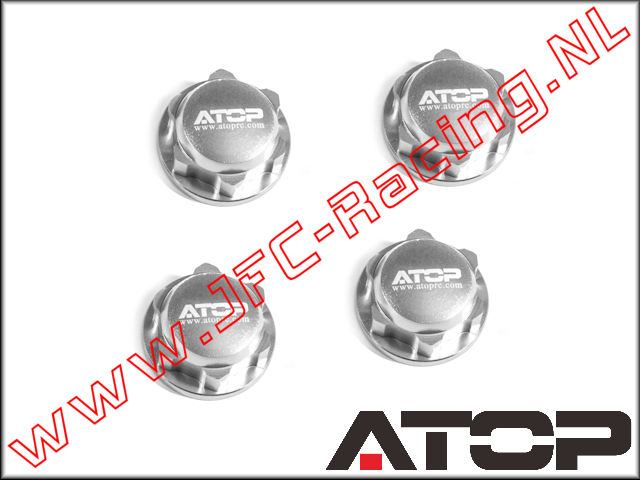 AT-5T004, ATOP Aluminum Closed Wheel Nuts (Losi 5ive-T / Losi 5ive-B / Mini WRC)(6061-T6 Alloy) 4pcs.