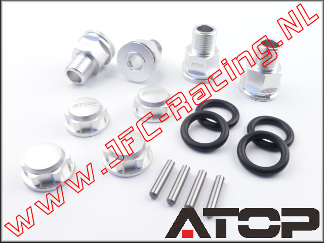 AT-5T005, ATOP Aluminum Wheel Extenders With Closed Nuts (25 mm)(Losi 5ive-T / Losi 5ive-B / Mini WRC)(6061-T6 alloy) 4 pcs.
