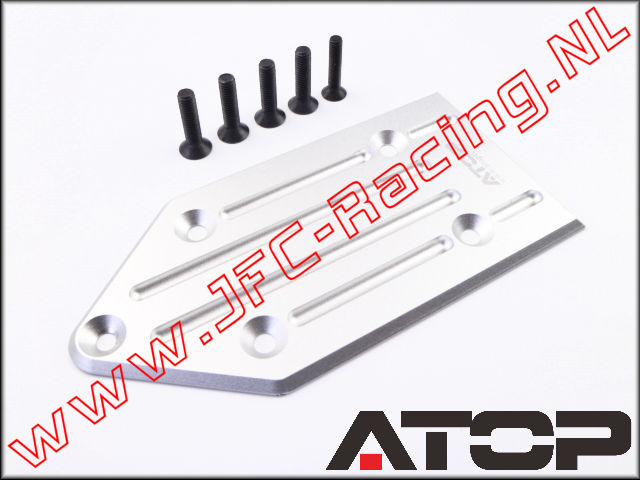 AT-5T007, ATOP Aluminum Rear Skid Plate (Losi 5ive-T / Losi 5ive-B / Mini WRC)(6061-T6 Alloy) 1pcs.