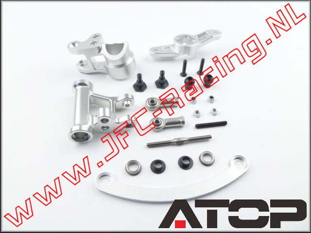 AT-5T014, ATOP Aluminium Steering Arm V2 Compatible with Single or Dual Servo (Losi 5ive-T / Losi 5ive-B / Mini WRC)(6061-T6 Alloy) 1pcs.