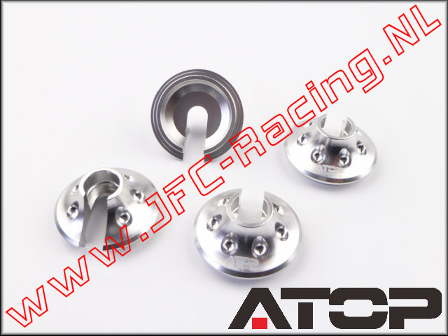 AT-5T018, ATOP Aluminum Spring Perches (Losi 5ive-T / Losi 5ive-B / Mini WRC)(6061-T6 Alloy) 4pcs.
