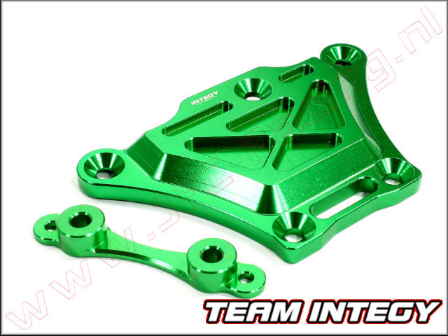 C25095GREEN, Aluminium Front Top Chassis Brace (Losi 5ive-T)(<FONT COLOR=00ff00>Green</FONT>) 1st.