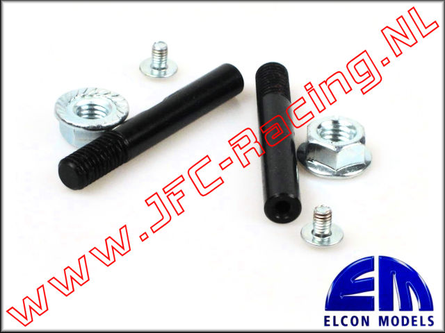 EM 51406, HD Wheel Shafts With M8 (Length 56mm) 1 set.