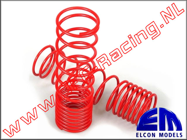 EM 70300-30-2.6, Progressive springs (32mm)(110mm)(2,2)(<FONT COLOR=ff0000>Red</FONT>) 2pcs.