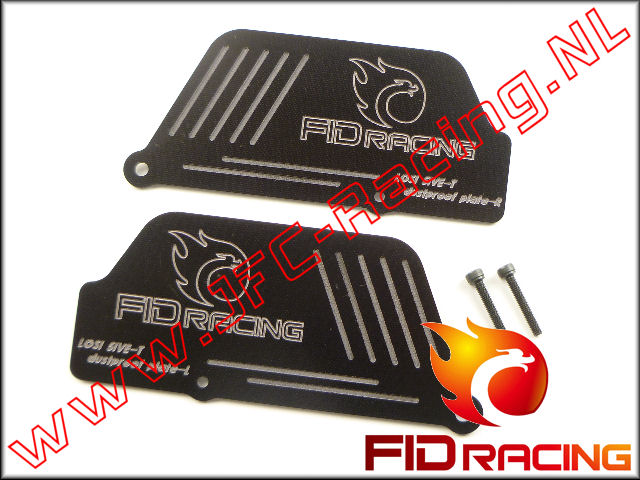 FID 0058, FID Racing Spatbord Achter-as (2mm)(LOSI 5ive / Mini) 2st.