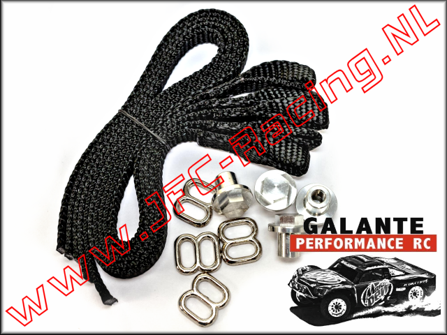 GPR-0430BK, Limit Strap (Black)(Galante Performance RC) 1set.