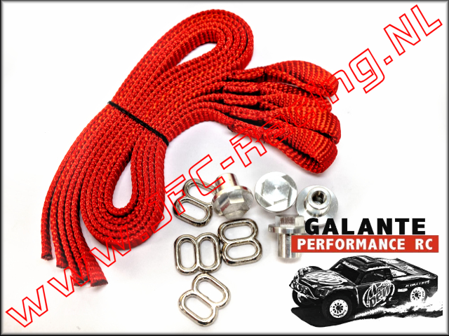 GPR-0430RD, Limit Strap (<FONT COLOR=ff0000>Red</FONT>)(Galante Performance RC) 1set.