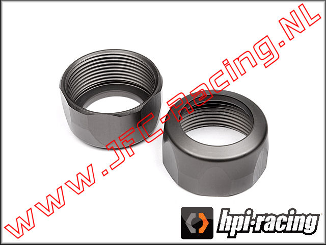 HPI 102154, Shock Cap (20 x 12mm)(Gunmetal) 2pcs.