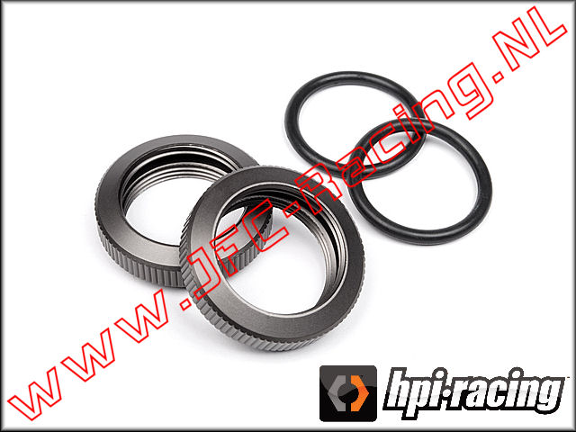 HPI 102155, Shock Adjuster Nut (20mm)(<FONT COLOR=404040>Gunmetal</FONT>) 2pcs.