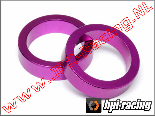 HPI 86616, Spacer (12 x 16 x 4mm)(<FONT COLOR=ff40ff>Purple</FONT>) 2pcs.