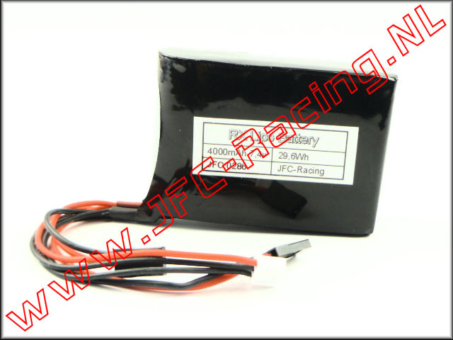 JFC 0286, 4000mAh 7.4V LiPo RX Battery Pack (HPI Baja)(JFC Racing) 1pcs.