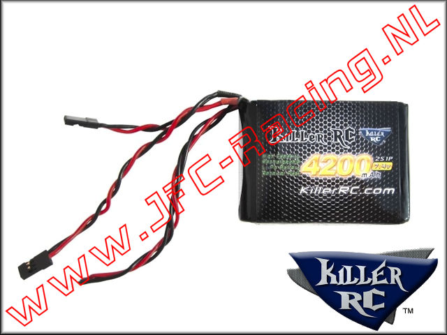 KIL 0296, RX LiPo Battery Killer RC (4200mAh)(7.4v)(Lipo)1pcs.