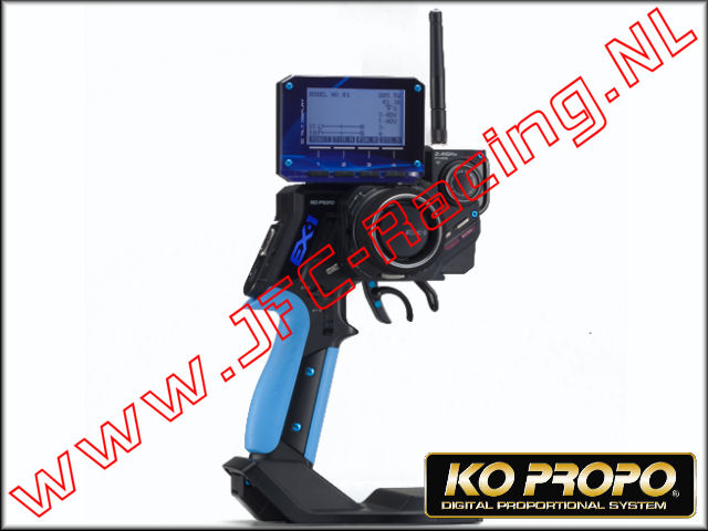 KO 80567, Ko Propo EX-1 KIY FHSS <FONT COLOR=0000ff>Blue</FONT> Limited Edition (Version 3)(KR-413FH) Radio Set 1st.