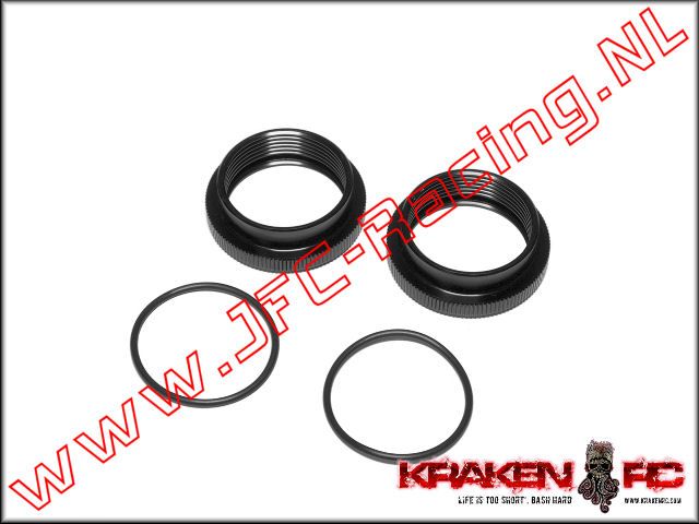 KV2241, VEKTA.5 F/R Alum Shock Adjuster Ring 2st. <BR>