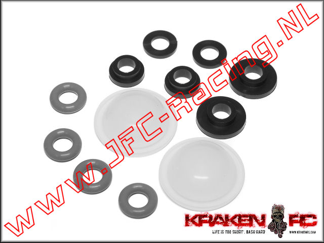 KV2242, VEKTA.5 Front/Rear Shock Internal Seals and Bushing Set 2st.