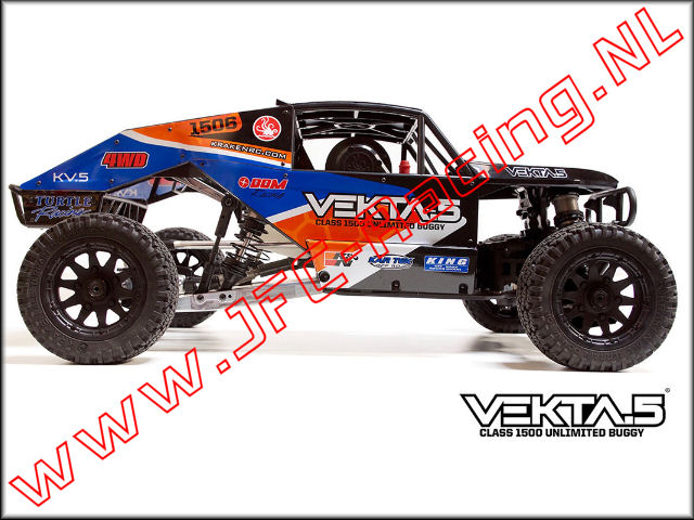 KV7701, VEKTA.5 Ultra Unlimited Class 1500 Buggy (ARTR)(Kraken RC) 1st.