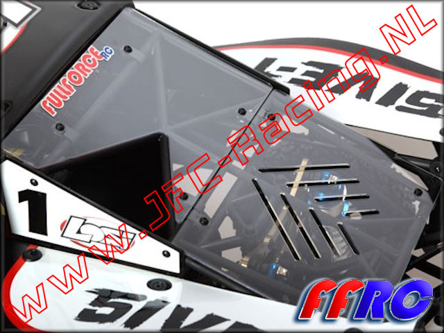 L5T007, FullForce RC Losi 5IVE-T Rear Upper Window 1pcs.