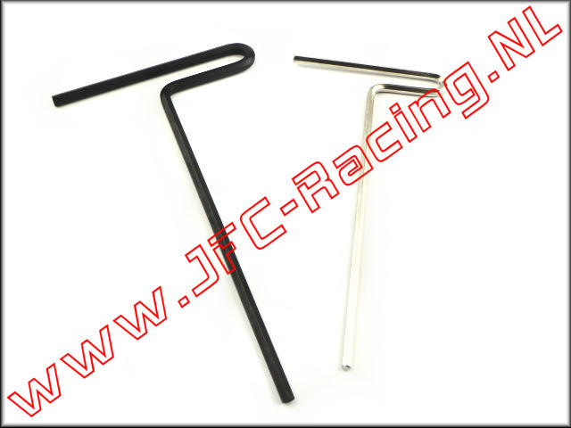 LOSB 4613, Hex key set T-grip (3,0 / 4,0mm) 2pcs.