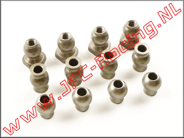 LOSB 5904, Bullet Set (Camber & Steering) (Hard Coated Aluminum) 12pcs.