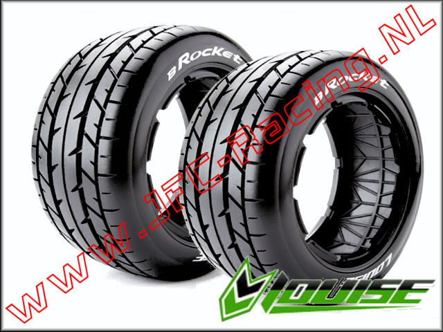 LR-T 32421, Louise RC B-ROCKET 1-5 Buggy Tires (Sport)(Rear)(170 X 80mm) 2st.