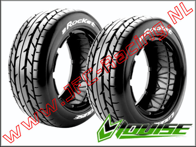LR-T 32661, Louise RC B-ROCKET 1-5 Buggy Tires (Sport)(Front)(170 x 60mm) 2st.