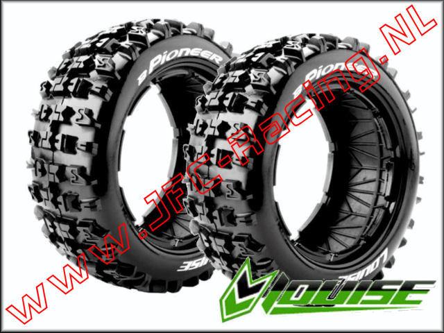 LR-T 32671, Louise RC B-PIONEER 1-5 Buggy Tires (Sport)(Front)(170 x 60mm) 2st.