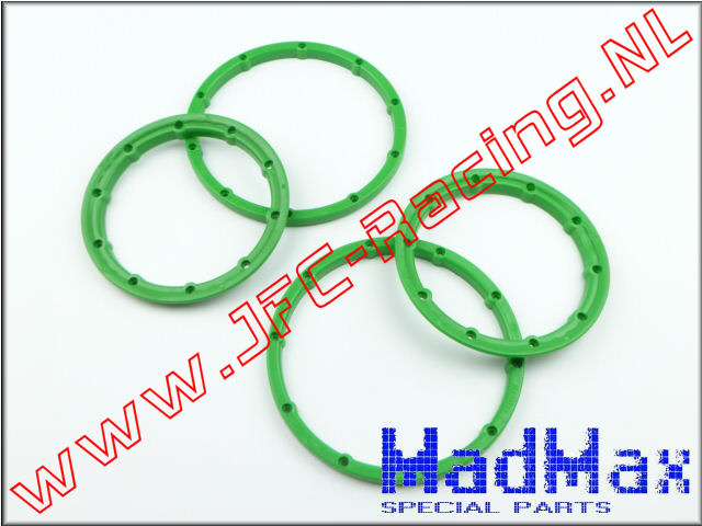 MM 1158, Madmax High Quality Beadlock Ring (2x Outside / 2x Inside)(<FONT COLOR=00ff00>Green</FONT>)(MadMax) 2st.