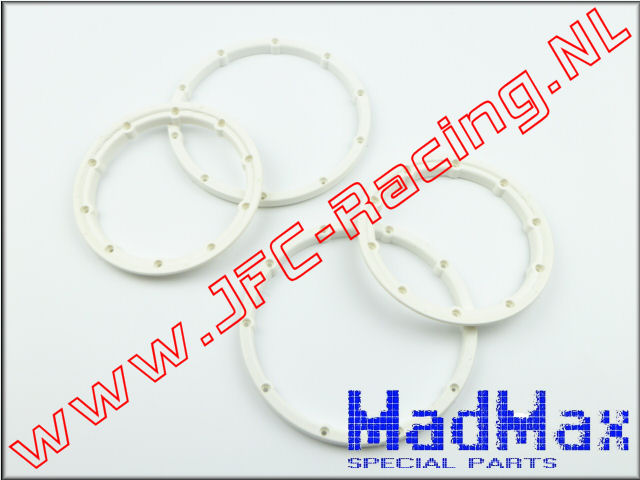 MM 1166, Madmax High Quality Beadlock Ring (2x Outside / 2x Inside)(White)(MadMax) 2st.