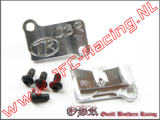 OBR 6325, OBR Cilinder Transfer Port Cover Performance (Flywheel Side)(Clutch Side)(Zenoah G320) 1set.