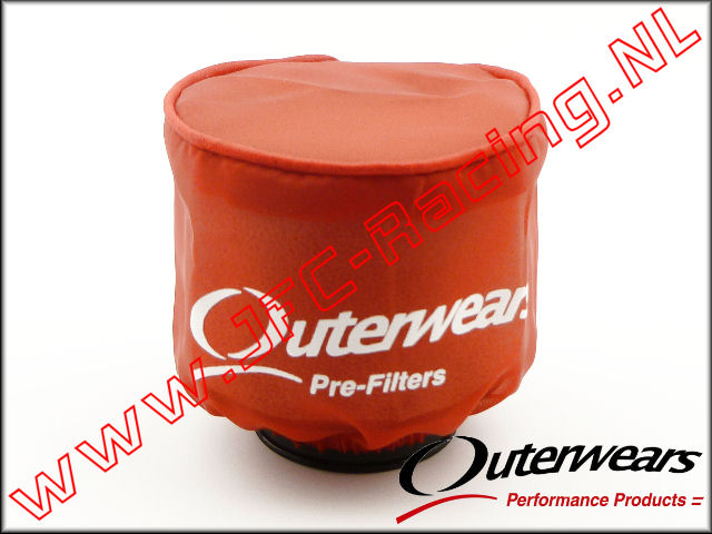 OUT 0282, Outerwears Pre-Filter Lucht Filter (<FONT COLOR=ff0000>Rood</FONT>) 1st.