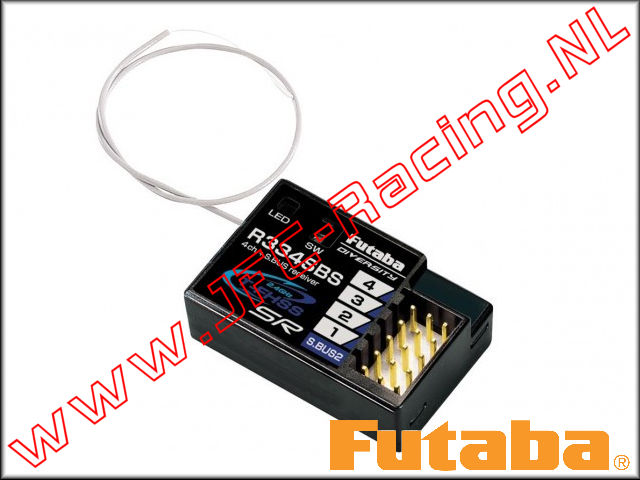 P-R334SBS, Futaba R334SBS 4-Channel T-FHSS SR 2.4GHz Receiver 1pcs.