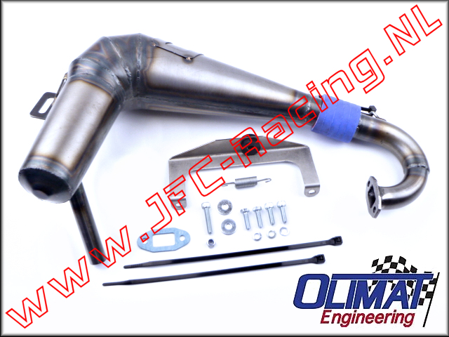 SX5/TSK-B-SIL, OliMat High Performance Exhaust Pipes (Silenced)(HPI Baja SX5/TSK) 1pcs.