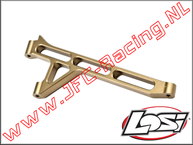 TLR 351003, Front Chassis Brace (Aluminum)(Hard Anodized) 1pcs.
