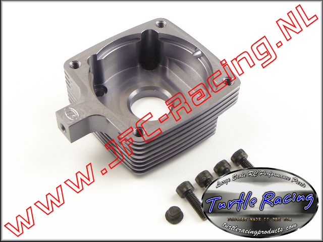 TUR 0008-GM, Clutch Housing (HPI 5B / 5T / 5SC)(<FONT COLOR=404040>Gun metal</FONT>)(Turtle Racing) 1st.