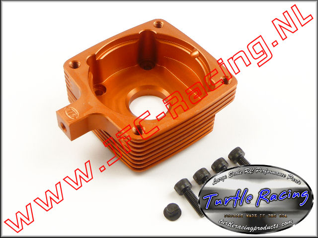 TUR 0008-OR, Clutch Housing (HPI 5B / 5T / 5SC)(<FONT COLOR=ff7301>Orange</FONT>)(Turtle Racing) 1st.