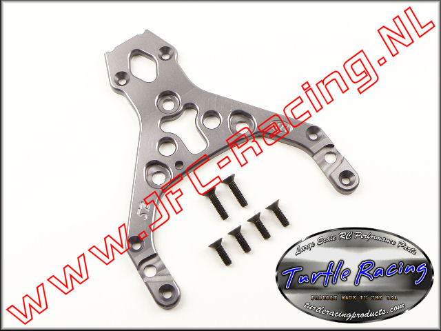 TUR 0009-GM, HD Top Plate (HPI Baja 5B)(<FONT COLOR=404040>Gun metal</FONT>)(Turtle Racing) 1st.