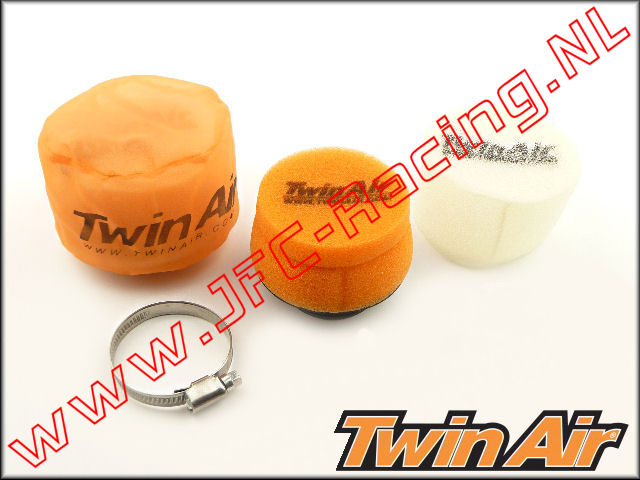 TWA 158883SET, Twin Air Dual Stage Luchtfilter systeem (Ø75 x 40mm)(Ø50mm Rubber) 1st.
