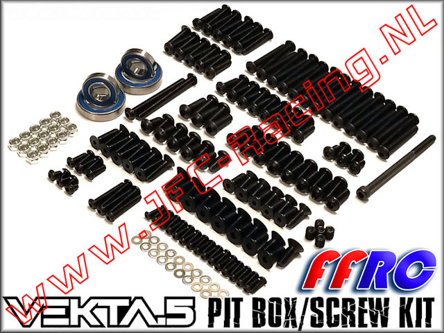 VKT013, FullForce RC Kraken Vekta Pit Box / Screw Kit 1pcs.